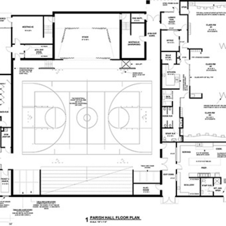 Parish Hall Floor Plan S